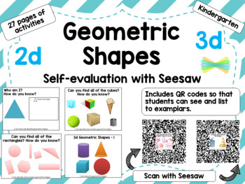 2D 3D Geometric Shapes for Seesaw