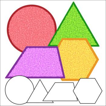2D & 3D Math Shapes Clip Art