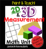 2D & 3D Measurement Unit: Perimeter, Area, Surface Area, and Volume NO PREP