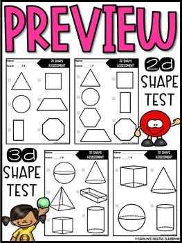 2D & 3D Shape Assessment - Teacher 1 on 1 Assessment