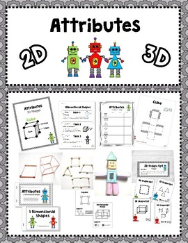 2D & 3D Shape Attributes