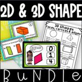 2D and 3D Shape Bundle Shape Properties Worksheets Boom Cards Kindergarten
