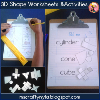 2D and 3D Shape Activities and Worksheets - Megabundle Geometry Pack