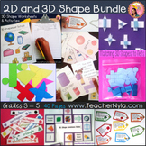 2D and 3D Shape Activities and Worksheets - Megabundle Geo