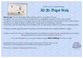 2D 3D Shape Grids Shape Sort