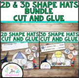 2D & 3D Shape Hats Bundle Cut and Glue