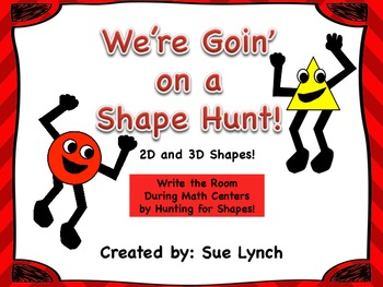 Shape Hunt~2D & 3D~Write the Room during independent math centers