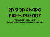 2D & 3D Shape Math Puzzles