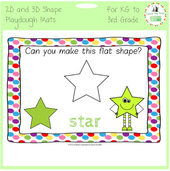 2D & 3D Shape Play Dough Mats
