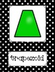 2D & 3D Shape Posters (Black & White Polka Dots)