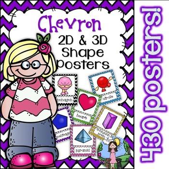 2D & 3D Shape Posters (Chevron)