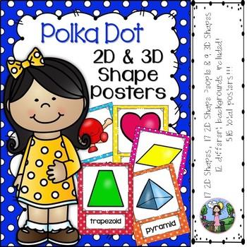 2D & 3D Shape Posters (Polka Dots)