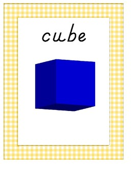 2D & 3D Shape Posters With Gingham Border