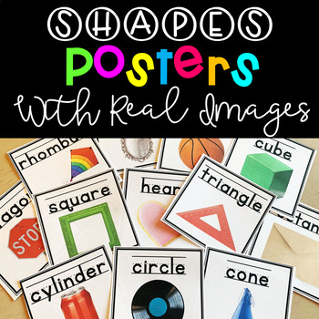 2D & 3D Shape Posters with Real Pictures