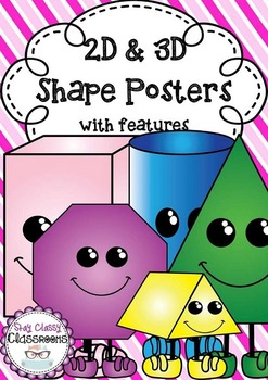 2D & 3D Shape Posters with features