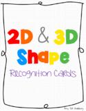 2D & 3D Shape Recognition Cards