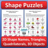 2D / 3D Shapes Worksheets