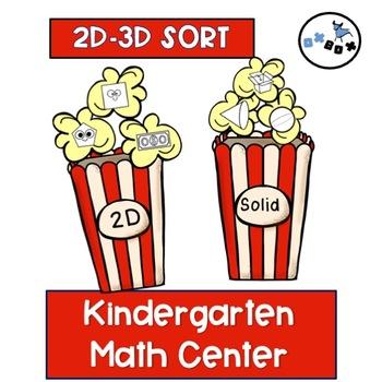 2D- 3D Shape Sort: Eureka Math Module 2 Topic C Center Activity