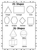 2D/3D Shape Study Page