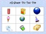 2D & 3D Shape Tic-Tac-Toe Math Station- Common Core