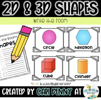 2D & 3D Shape Write the Room