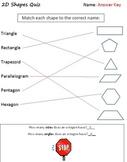 2D & 3D Shapes Packet