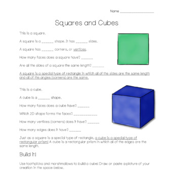 2D & 3D Shapes: A Unit Study for Third & Fourth Grade