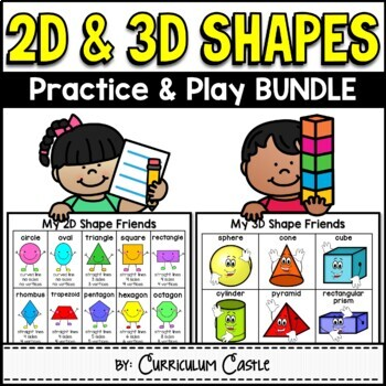 2D & 3D Shapes Activities Bundle {Practice and Play}