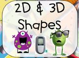 2D & 3D Shapes Activote Flipchart