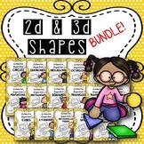 2D & 3D Shapes BUNDLE {Distance Learning}