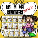 2D & 3D Shapes BUNDLE {Distance Learning}