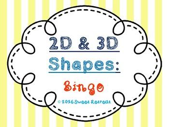 2D & 3D Shapes Bingo