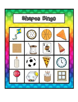 2D & 3D Shapes Bingo with Real Life Objects
