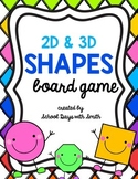2D & 3D Shapes Board Game