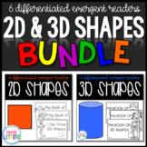 2D & 3D Shapes Books BUNDLE