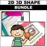2D and 3D Shapes Worksheets and Activities Bundle