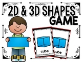 2D & 3D Shapes Card Game