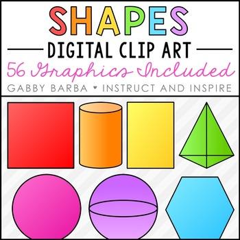 2D & 3D Shapes Clip Art