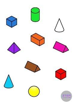 2D, 3D Shapes Clip Art Bundle - 440 Images- Math, Geometry