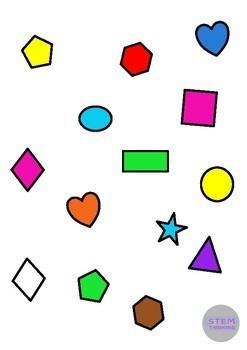 2D 3D Shapes Clip Art Bundle Math Geometry 440 Images