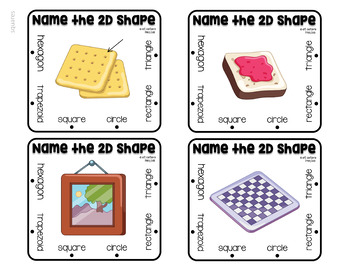 2D and 3D Shapes in the Real World Clip Cards