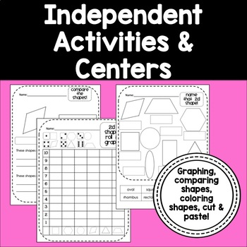 2d 3d shapes common core activities centers for kindergarten 1st grade. Black Bedroom Furniture Sets. Home Design Ideas