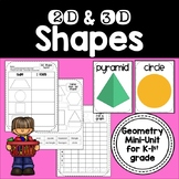 2D & 3D Shapes {Geometry Activities & Centers for Kindergarten-1st Grade}