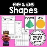 2D & 3D Shapes {Geometry Activities & Centers for Kindergarten-1st Grade}