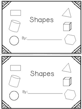 2D & 3D Shapes Cut & Paste Book