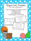 2D & 3D Shapes Early Readers Student Books