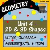 2D & 3D Shapes: Perimeter, Area, & Volume (Geometry - Unit 4)