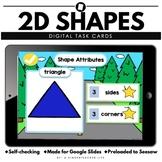 2D 3D Shapes Google Slides  Distance Learning Math Task Cards