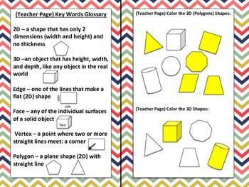 2D & 3D Shapes Interactive Notebook