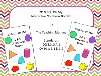 2D & 3D Shapes Interactive Notebook